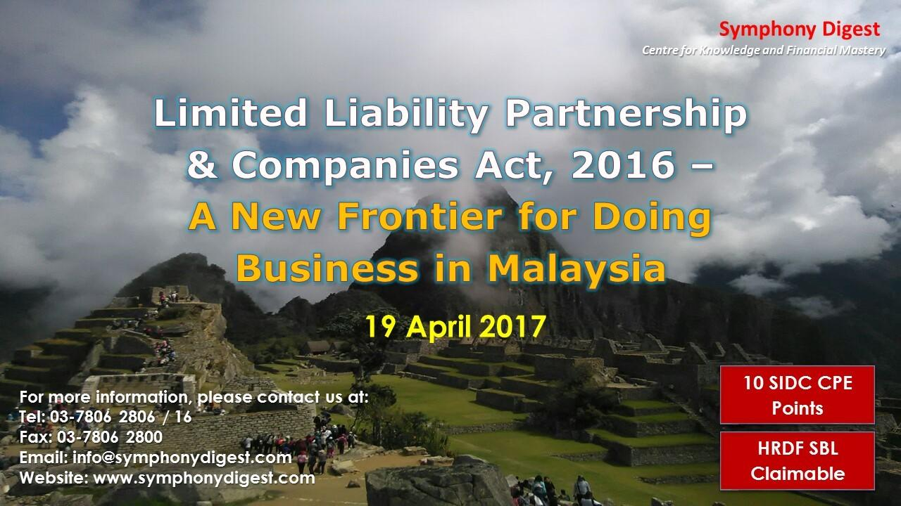 Limited Liability Partnership & Companies Act – 11 May